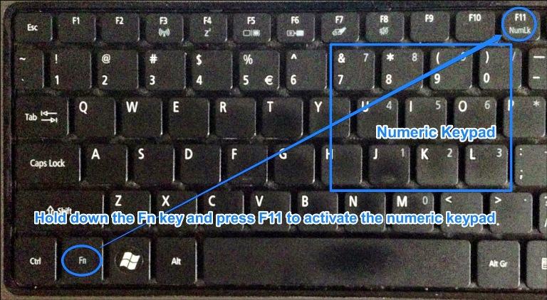 tombol keyboard berubah menjadi angka